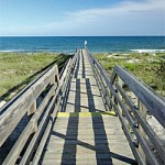 Photo of pathway to the beach, North Litchfield, Pawleys Island, SC