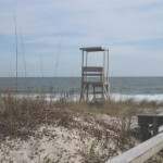 A lifeguard tower at Carolina Beach, NC