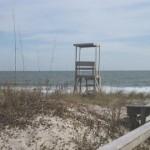A lifeguard tower at Carolina Beach, NC