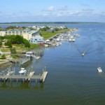 An Edisto Island, South Carolina aerial photo