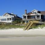 Beach homes on the Pawleys Island, South Carolina beach