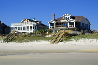 Beach Homes On The Pawleys Island South Carolina Beach