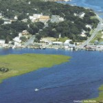 Aerial photography of a Southport NC waterway