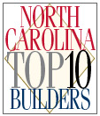 North Carolina Top Ten Builders